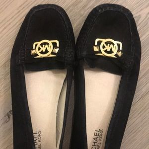 Michael Kors Black Buckle Flats